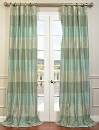 Teal Taffeta Curtains Half Price Drapes Ptsch H60814 96 Faux Silk Taffeta Stripe Curtain