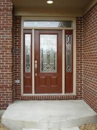 Frosted Glass Exterior Doors by Brown Wooden Door With Frosted Glass Door Combined With Silver