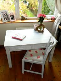 Shabby Chic Tablecloth by Solid Wooden Shabby Chic Desk And Chair Emily Bond Norfolk