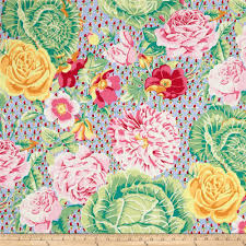 kaffe fassett home decor fabric kaffe fassett collective cabbage roses spring from fabricdotcom