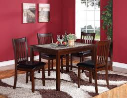 Black Wood Dining Room Table by Roundhill Furniture