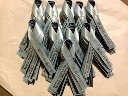memorial ribbons personalized 5 8 memorial ribbon pinned wedding favors