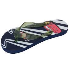 boys disney flip flops slippers kids cartoon character rsn print