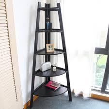 Espresso Corner Bookcase Corner Unit Bookcases Home Office Furniture The Home Depot