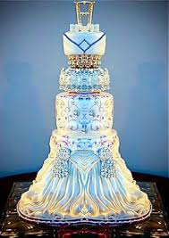elegant blue and white wedding cake cakecentral com