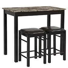 Amazon Com Best Choice Products 3 Pc Dining Table Set Includes