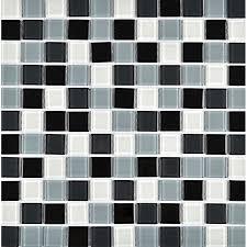black glass tiles for kitchen backsplashes and black glass mosaic tile for decorative kitchen backsplash wall