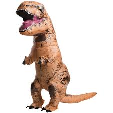 halloween blow ups clearance jurassic world inflatable t rex costume buycostumes com