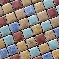 Porcelain Mosaic Floor Tile Backsplash Ideas - Square tile backsplash