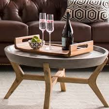 eq3 trivia coffee table solid wood coffee tables you ll love wayfair ca