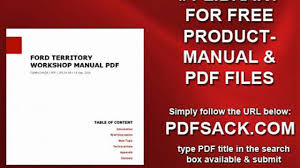 ford territory workshop manual pdf video dailymotion