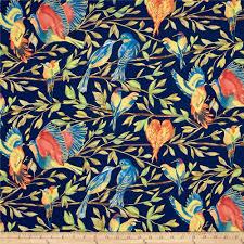 Discount Home Decor Fabric Online Michael Miller Valencia Bird Kiss Blue Metallic Discount