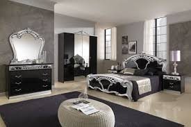luxurious black and silver bedroom idea with chic furniture design