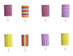 set of 8 rainbow colorful cool festival party celebration home