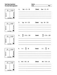 solving two step equations with a do undo chart by shawna h tpt