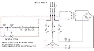 how do apply a brake in a 3 phase induction motor 3 wire star