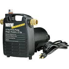 automotive electric water pump wayne cast iron portable transfer water pump u2014 1 450 gph 1 2 hp