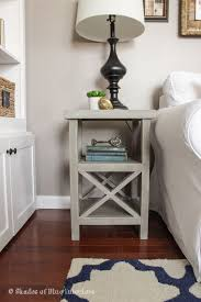 Ana White Truss Coffee Table Diy Projects by Simple Gray X Tall Nightstand Bedside Table Ideas How To Make