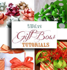 gift wrapping bows twelve gift bow tutorials