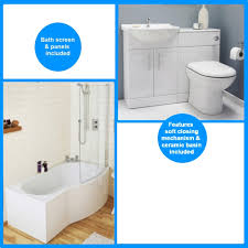 shower bath suites saturn furniture pack with curved 1700mm shower bath suite