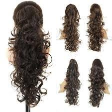 Long Synthetic Hair Extensions by Curly Ponytail Hairpieces 20 Long Fake Ponytails Claw Drawstring