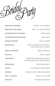 program for wedding wedding program sle format hunecompany