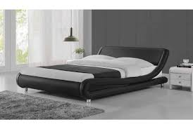 Madrid Leather Sofa by Luxury Designer Bed In Black Faux Leather Available In Double And