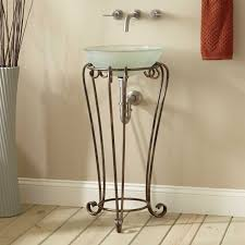 altan wrought iron vessel sink stand bathroom
