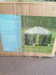 find more gazebo new in box oval shaped dome top garden house