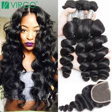 pics of loose wave hair peruvian loose wave virgin hair with closure mink 8a peruvian
