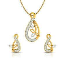 set of gold designer pendant sets the collection of gold and diamond