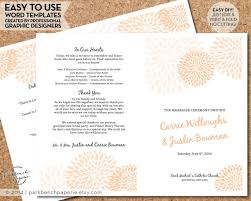 print at home wedding programs wedding program template mums diy by parkbenchpaperie