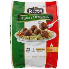 cooked turkey meatballs 24 oz meijer