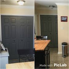 painted my white laundry room bifold doors with rustoleum country