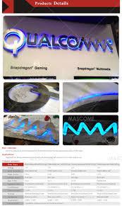 custom metal stainless steel signs led backlit signs embossed