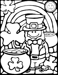 excellent st patricks day coloring page with st patricks day