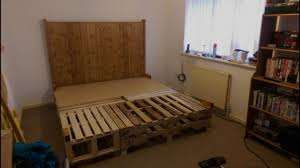 diy pallet bed superkings size youtube