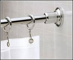Loaded Curtain Rods Polished Nickel Shower Curtain Rod 8498 In Tension Shower Curtain