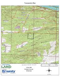 Topographic Map Of Michigan by 40 Acre Kryer Mountain Timber And Wildlife In Pulaski County Arkansas