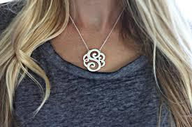monogram initial necklace gold stupefying monogram initial necklace 14k gold