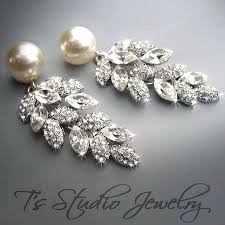 and pearl chandelier earrings and pearl chandelier earrings pearl bridal chandelier