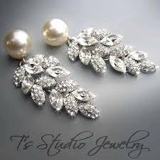 pearl chandelier earrings and pearl chandelier earrings pearl bridal chandelier