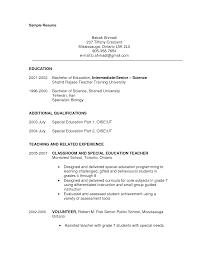 100 resume for teachers example free sample resume template