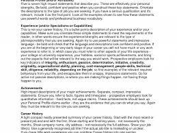 Curriculum Vitae Personal Statement Samples Homely Idea Resume Personal Statement Examples 9 Buy Original