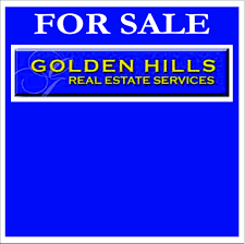 golden hills brokers real estate real estate signs yard signs