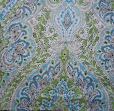 Cynthia Rowley Drapery Rowley Medallion 2 Window Panels Curtains Blue Green Tropical