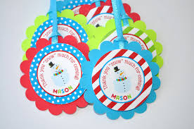 Winter Onederland Party Decorations Snowman Favor Tags Winter Onederland Birthday Party Decorations