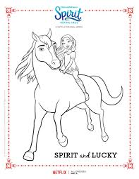 spirit riding free spirit and lucky coloring page mama likes this
