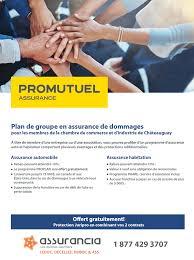 assurance chambre de commerce offre pour les membres de la ccgc plan de groupe en assurance