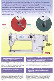 apparel machines juki mh 380 double needle chainstitch sewing